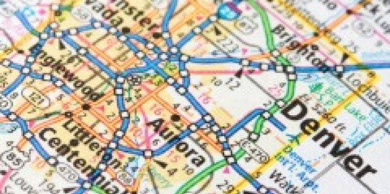 denver colorado map