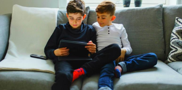 children distance learning at home with ADHD