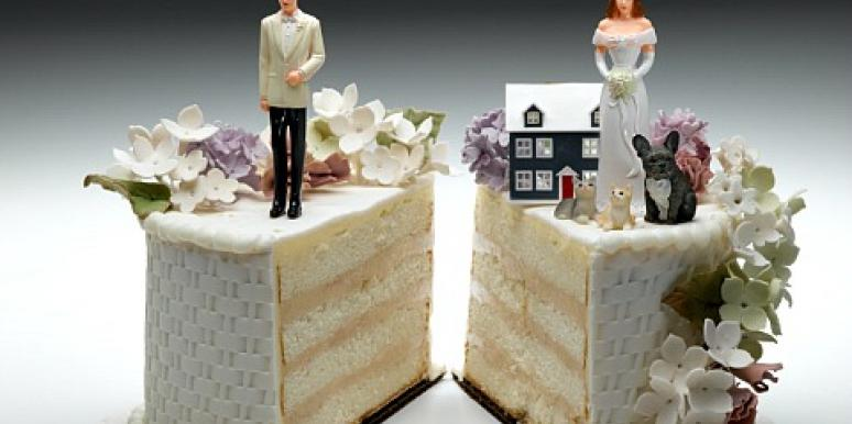 divorce, wedding cake