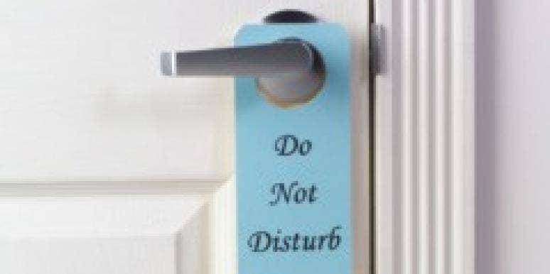 do not disturb sign door