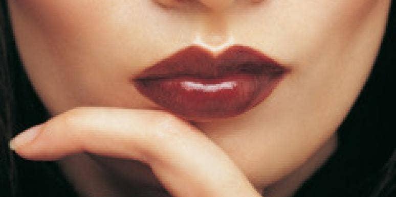 seductive woman red lips