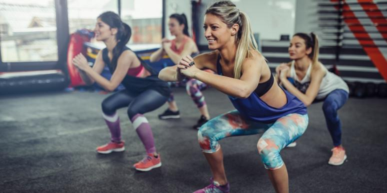 group of women working out