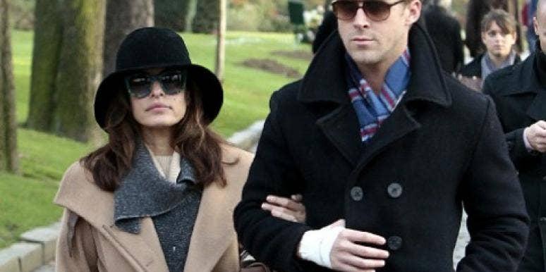 Ryan Gosling & Eva Mendes Romance Each Other In Paris