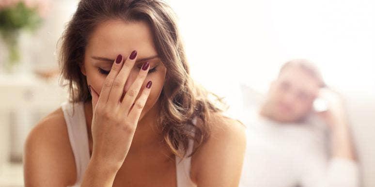woman having problems with boyfriend