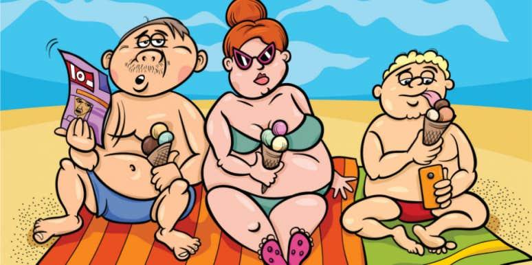 fat-family-on-beach