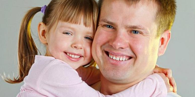 redhead father little girl daughter