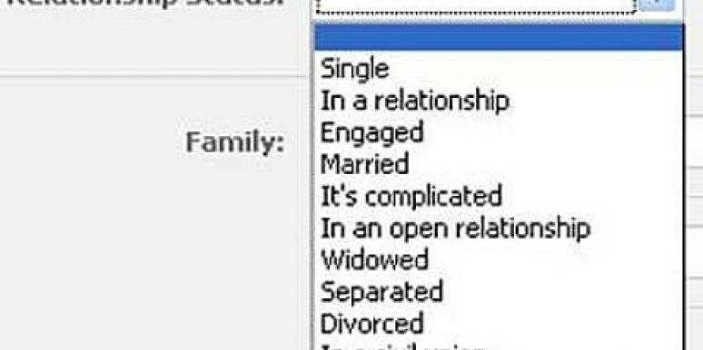 Why You Shouldn't Update Your Relationship Status