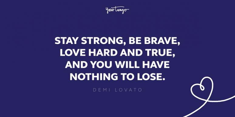demi lovato fighting quote