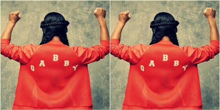 gabby douglas national anthem olympics