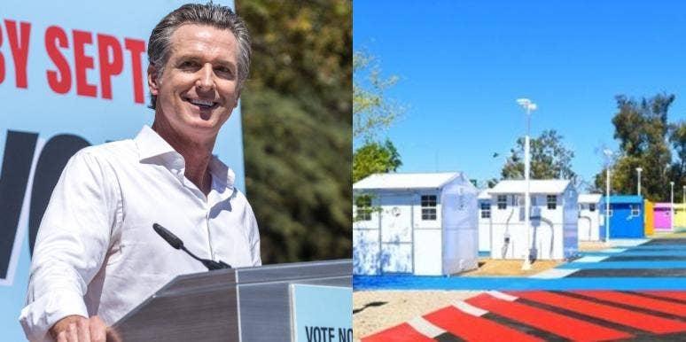 Gavin Newsom Homeless Tiny Homes California
