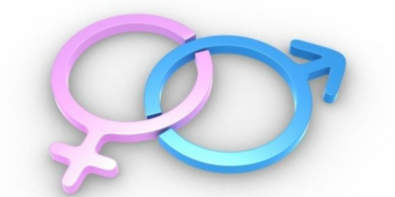 pink girl symbol blue boy symbol
