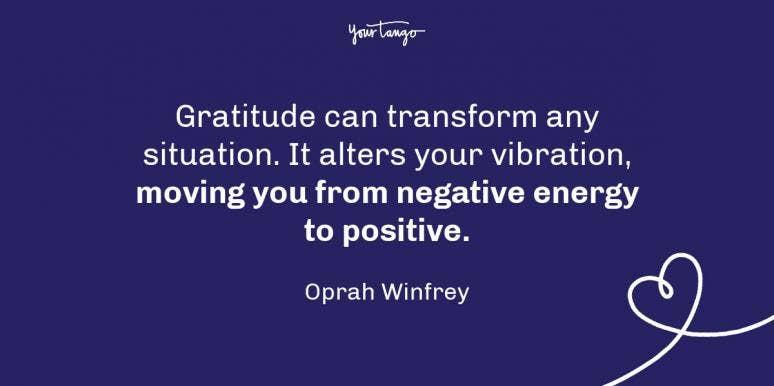 Oprah Winfrey gratitude quotes