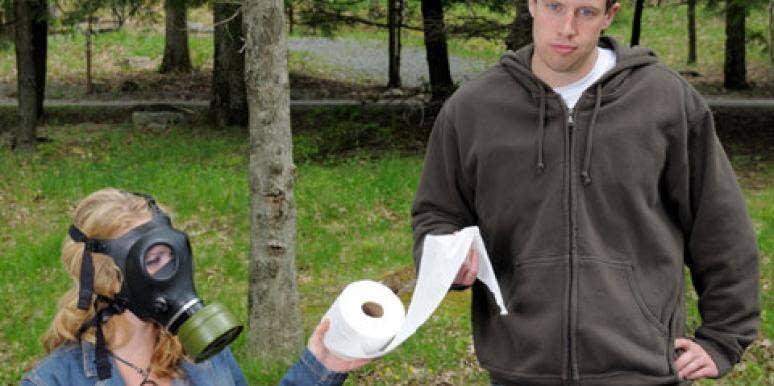 couple toilet paper