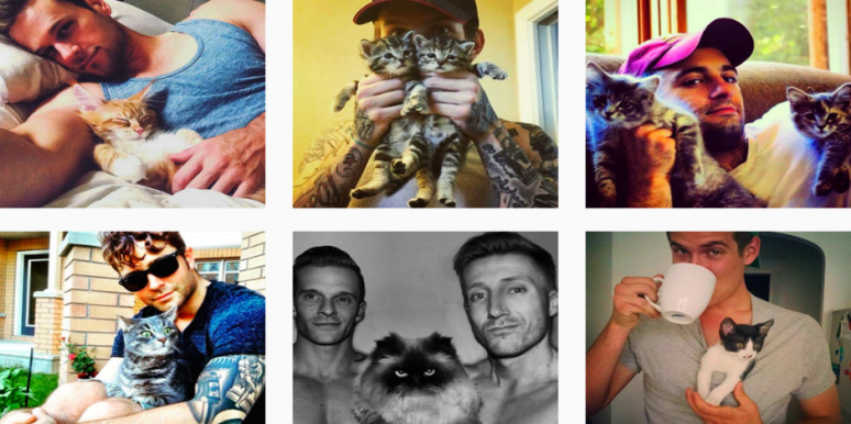 This Instagram Features Hot Men Holding Cute Kittens