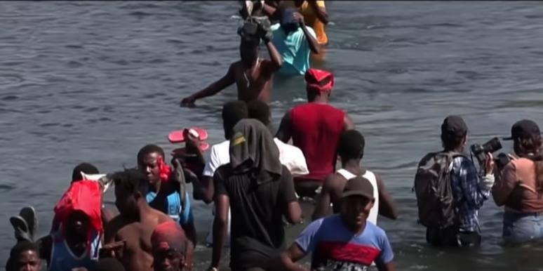 Haitian Asylum Seekers Crossing Rio Grande