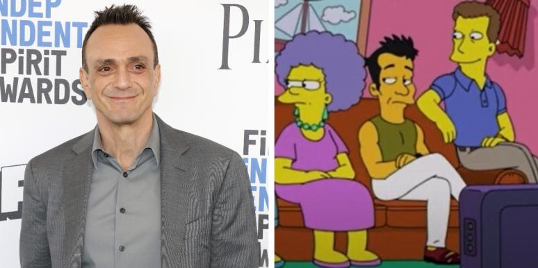 Hank Azaria and characters from The Simpsons