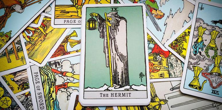 The Hermit Tarot Card Meanings: Upright, Reversed & In Love