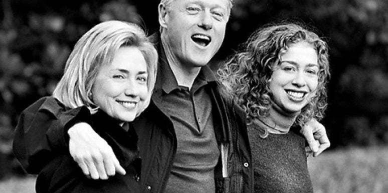 Hillary Clinton, Bill Clinton and Chelsea Clinton