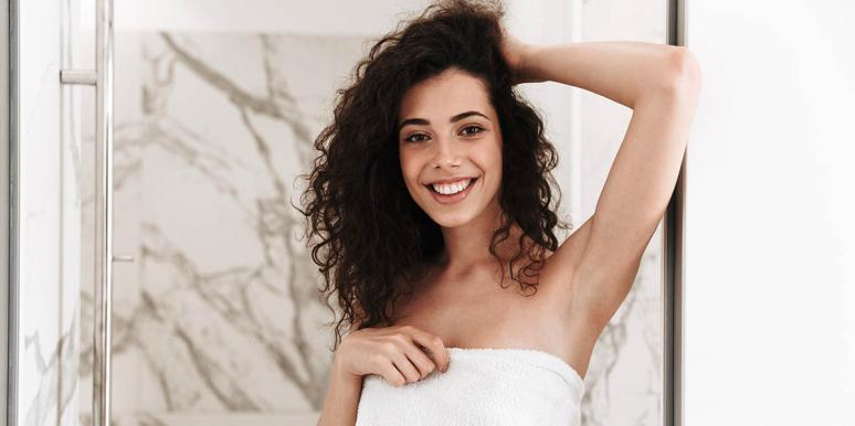 How To Get Luscious Hair: She Takes Hair Out Of A Towel And Boom: Amazing, Curly Hair