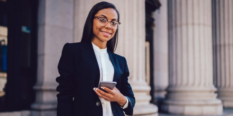 business woman expert developing expertise