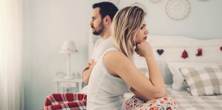 unhappy couple ignoring each other
