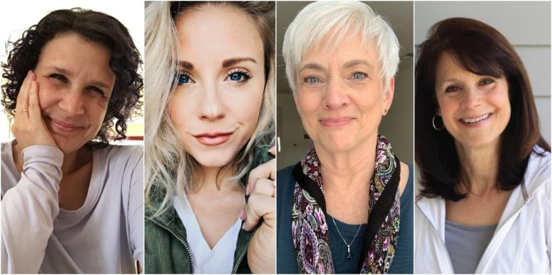collage image of 4 women