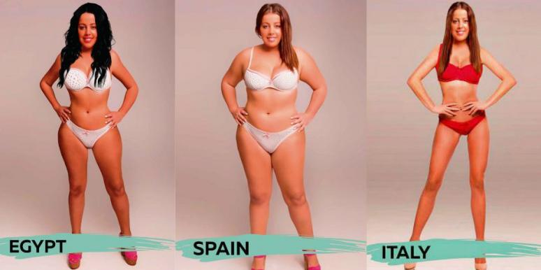 What 'Perfect' Female Body Types Look Like Around The World