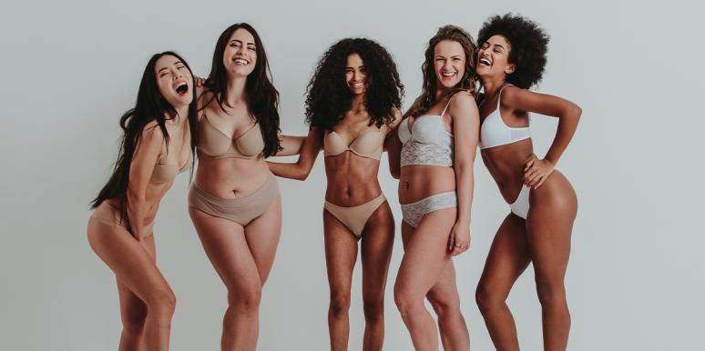 group of women different bodies