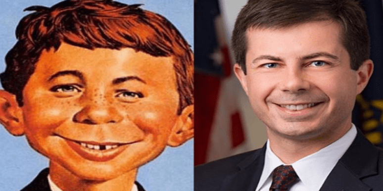 Image result for funny images of pete buttigieg