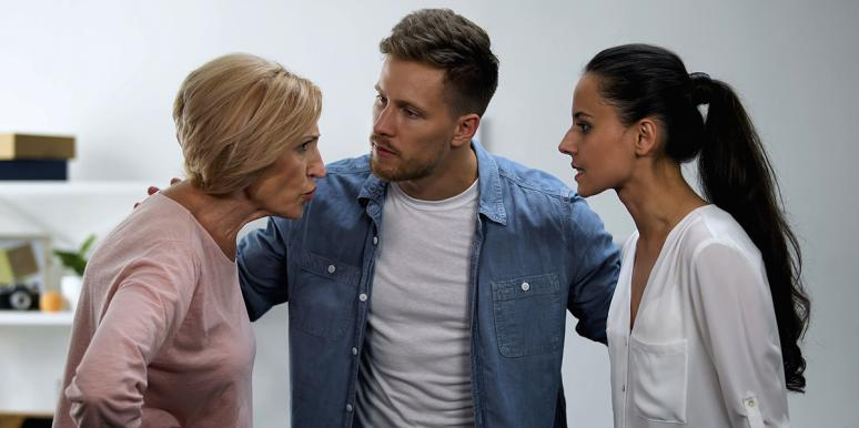 couple with mother-in-law