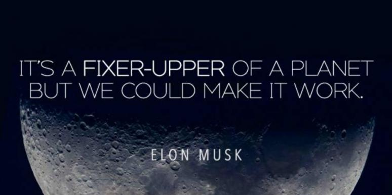 space quote over image of moon