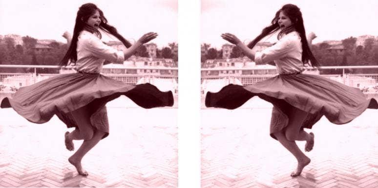 Italian girl dancing