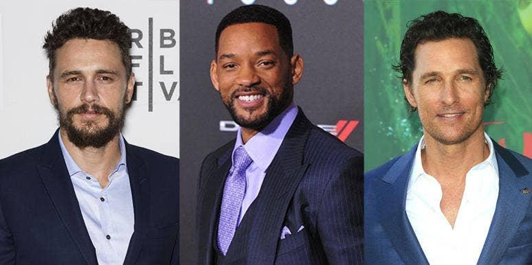 James Franco, Matthew McConaughey, and Will Smith