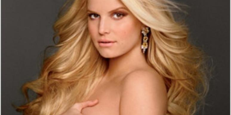 It's A Girl! Jessica Simpson Shows Off Her Nude Baby Bump