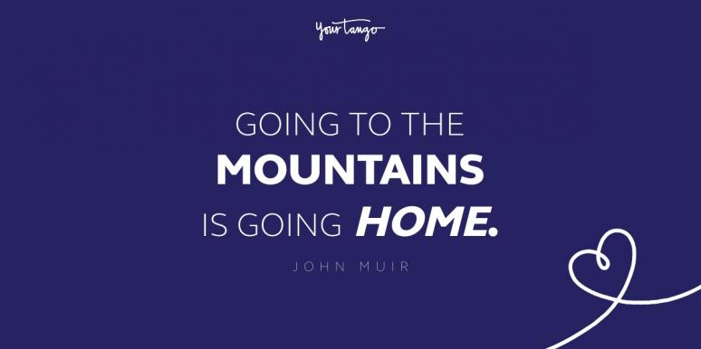 going to the mountain is going home