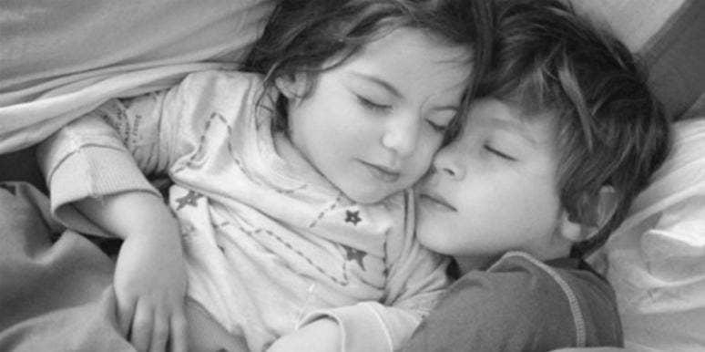 siblings sleeping