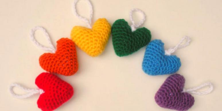 plush heart ornaments