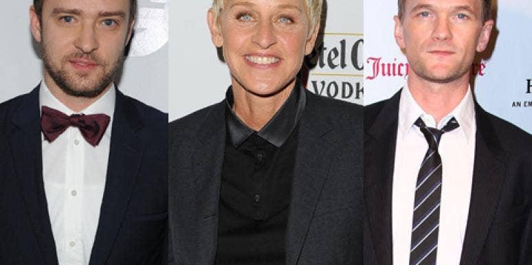 Justin Timberlake, Ellen DeGeneres, Neil Patrick Harris