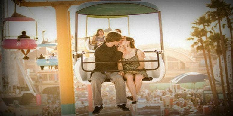 kiss at the amusement park