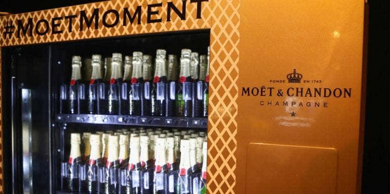 Champagne vending machine makes dreams come true