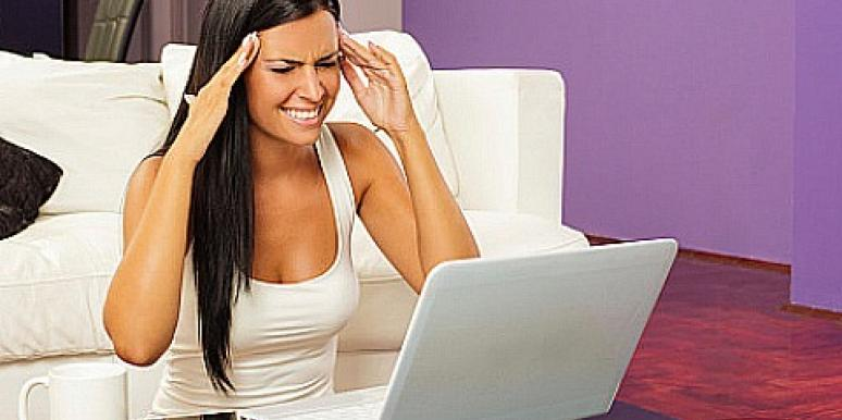 woman confused at computer
