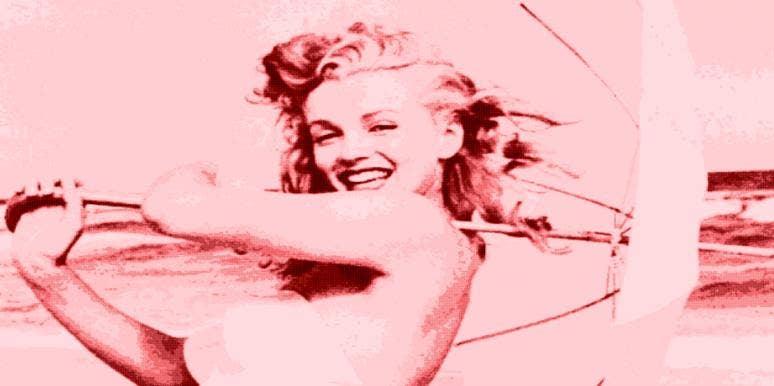 happy Marilyn Monroe