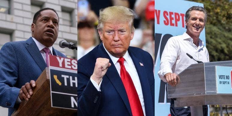 Larry Elder Donald Trump Gavin Newsom