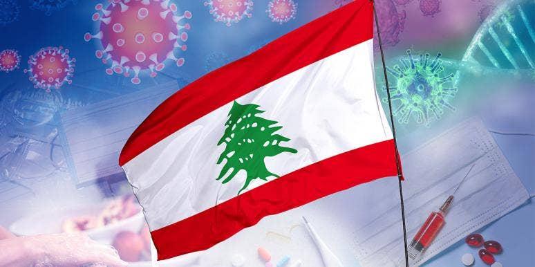 Lebanese flag and Covid-19