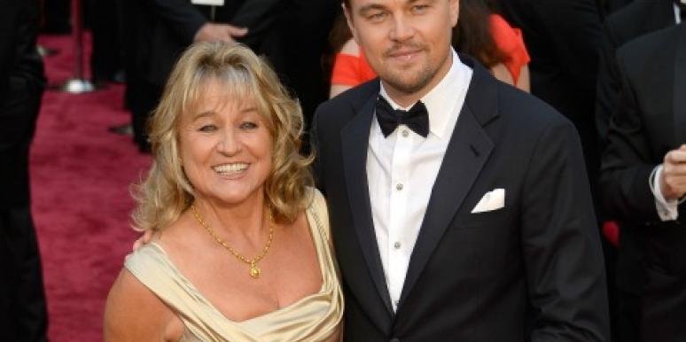 Leonardo and his mother at the Oscars.