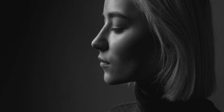 woman side profile