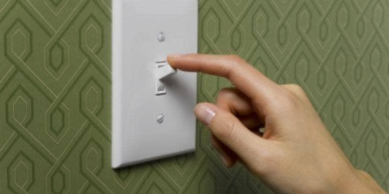 light switch on off