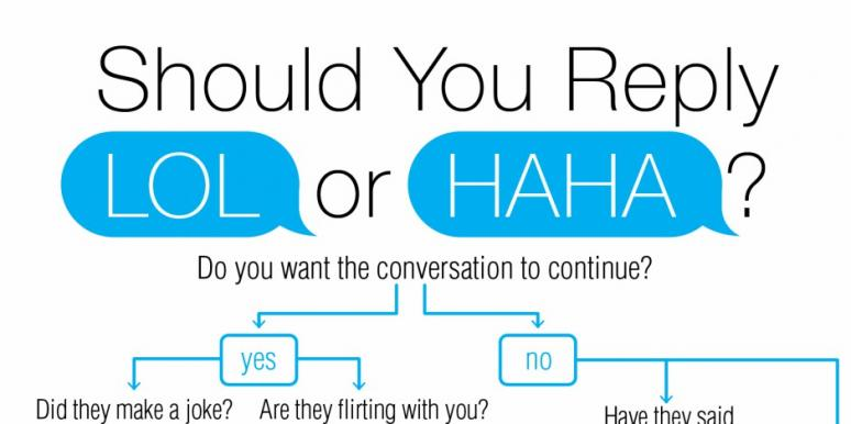 Hilarious Flowchart Tells You If You Should Text Haha Or Lol