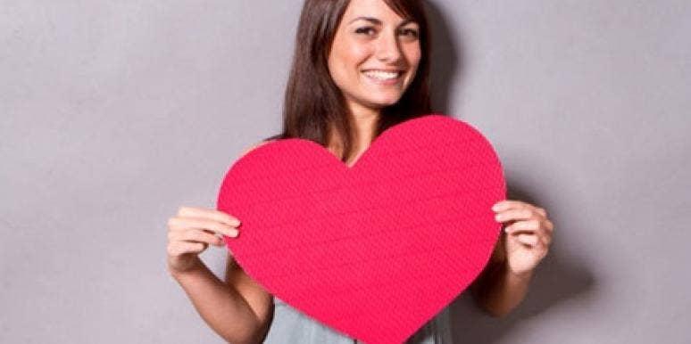 girl holding heart, girl in love