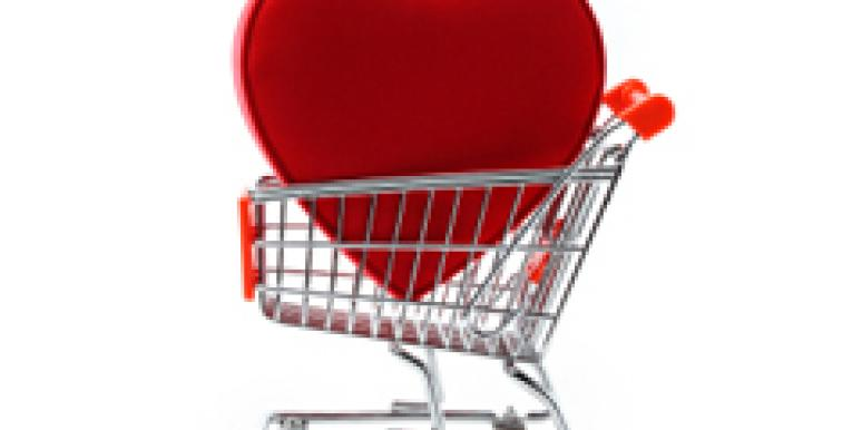 heart in a grocery cart